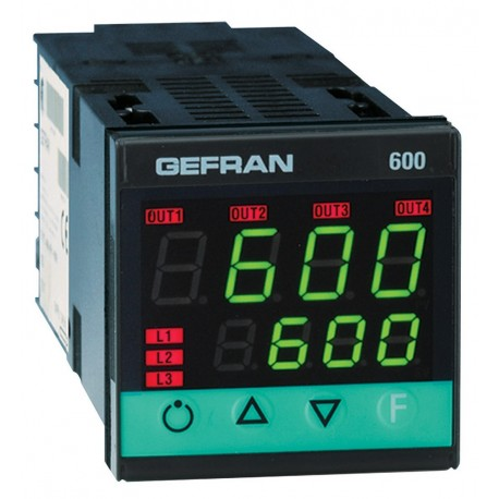 Regulátor teploty konfigurovatelný on-off-pid Gefran 600